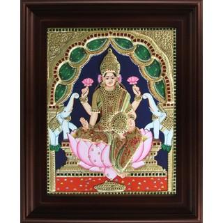 Myangadi Gaja Lakshmi Tanjore Painting Myaz108-S4