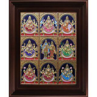Myangadi Ashta Lakshmi Tanjore Painting Myaz111-S8