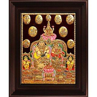 Myangadi Kubera Lakshmi Tanjore Painting Myaz113-S7