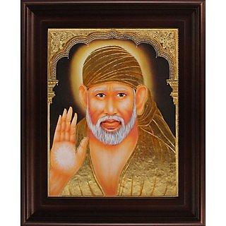 Myangadi Shirdi Sai Baba Tanjore Painting Myaz125-S11