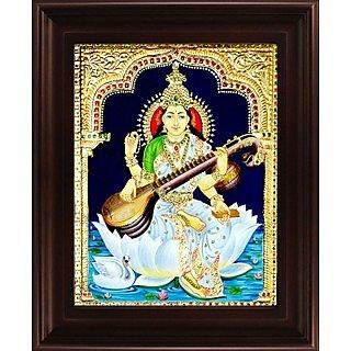 Myangadi Saraswathi Tanjore Painting Myaz134-S9