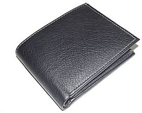 Black Pu Leather Wallets By Pooja Export MW102BL