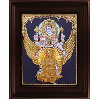 Myangadi Vishnu Karudan Tanjore Painting Myaz152-S10