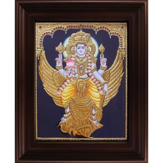 Myangadi Vishnu Karudan Tanjore Painting Myaz152-S6