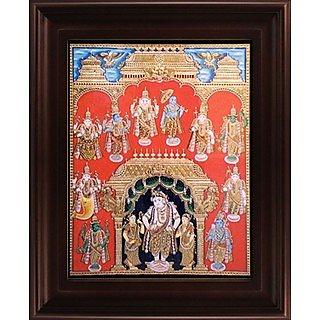 Myangadi Dasavatharam Tanjore Painting Myaz153-S6