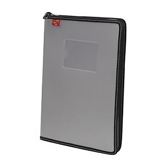 Trio C800 Conference Zipper File With Pad A4 (Set Of 2, Grey)