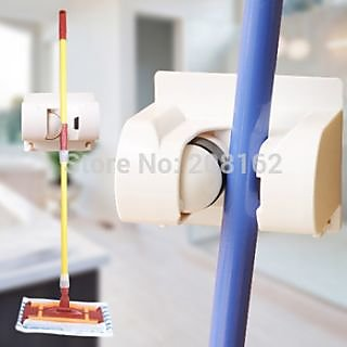 1 Position Multi-function Wall Mounted Mop Holders Broom Storage Racks ETC