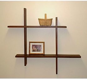 New Look Plus Style Brown Wall Shelf