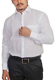 Grahakji Men's Regular Fit Formal Poly-Cotton Shirt