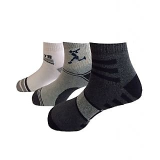 JIE LAN Assorted 3 Pairs Of Men Ankle Length Sports Socks
