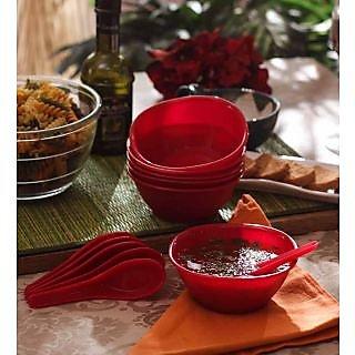 Soup Set-Incrizma 12 Pc Soup Set -RED