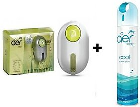 Combo Of Godrej Car Ac Vent Perfume (Green) +Godrej Carhome Air Spray(Blue).