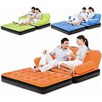 5-Inn-1 Inflatable Sofa / Air Bed With Velvet Coating In Assorted Colours