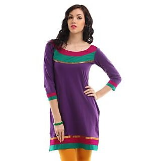 Stylish purple ladies kurti