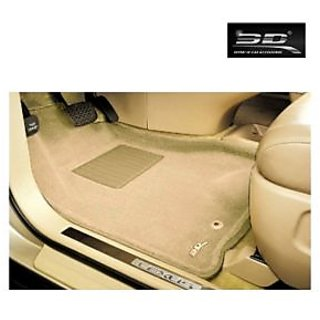 3D Car Foot Mats - Honda - Brio - Beige