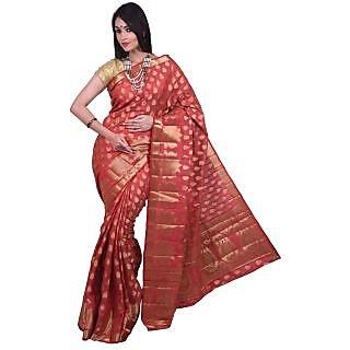 Elegant Silk Maroon Casual Wear Saree KSPL3121