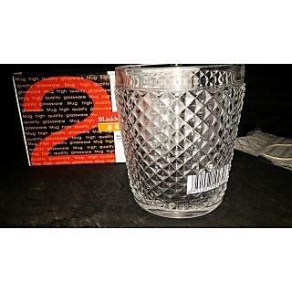Crystal wide Juice Water Drink Glass Tumbler Set ( 6 Pcs ) 300 ml