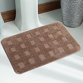 Soft Quality Water Absorbent Anti Slip  Micro Bathmat With Latex Rubber Backing