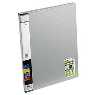 Trio 600A Display File 10 Pockets A4 (Set Of 2, Grey)