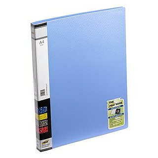 Trio 601A Display File 20 Pockets A4 (Set Of 2, Blue)