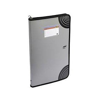 Trio Z530DBF Zipper Punchless Display File 30 Pockets FC (Set Of 2, Grey)
