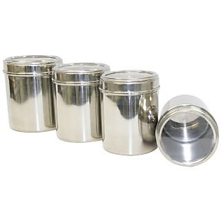 Stainless Steel Kitchen storage Canisters with see through lid Set