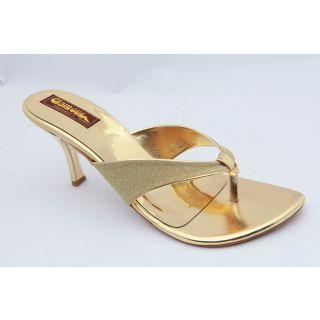 Get Glamr Women Golden Sandals-N7038