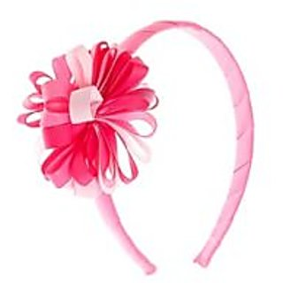 Stol'n  Hairband With Multi Coloured Flower Dark Pink