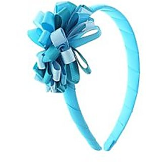 Stol'n  Hairband With Multi Coloured Flower Blue