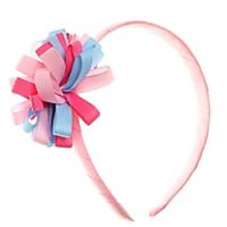 Stol'n  Light Pink Hairband With Multi Coloured Flower