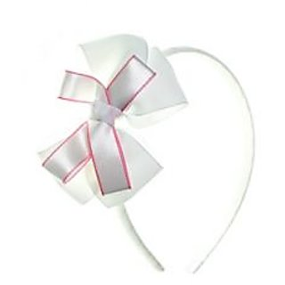 Stol'n  Hairband With Knoted Bow White
