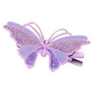 Stol'n  Small Butterfly With Glitter Hair Pin Purple