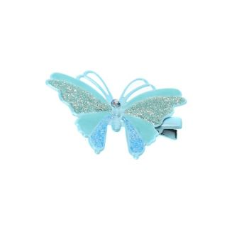 Stol'n  Small Butterfly With Glitter Hair Pin Blue