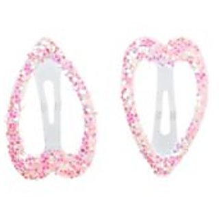 Stol'n  Heart Shape Tic Tac Pins With Glitter Pink