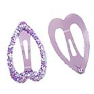 Stol'n  Heart Shape Tic Tac Pins With Glitter Purple