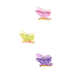 Stol'n  Set Of 3 Multi Coloured Butterfly Clutchers Design 1