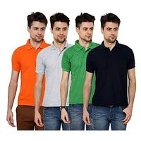 Grand Bear Pack of 4 Polo T-Shirt For Men