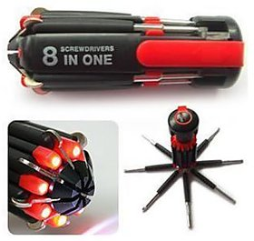 love4ride 8 in 1 Screwdriver with 6 Bright LED lights
