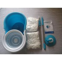 Easy Magic Mop Fast Spindry Wringer With 2 Mop Heads+Gloves,FINYAL BOTTEL FREE