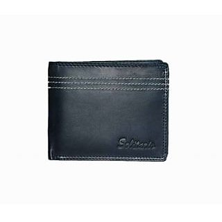 Solitario Black Designer Leather Wallet (3006WBLKBG)