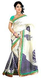 Arya Bhagalpuri Cotton Saree Off White
