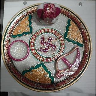 VIOM Marble Puja Thali