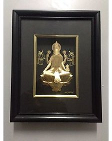 MA LAXMI FRAME MADE IN 24KT GOLD.