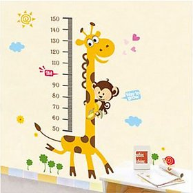 Walltola Kids Giraffe Height Chart Large Wall Sticker