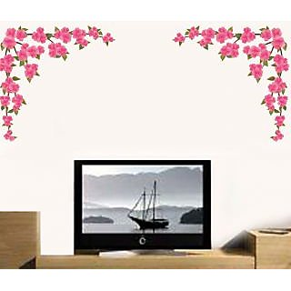 Walltola Wall Sticker - Love Flowers For Background 57108 (Dimensions 150x70cm)