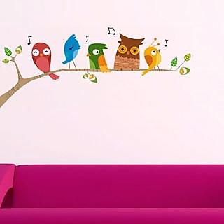 Walltola Wall Sticker-Singing Funny Birds 7262 ( 70x25cm)