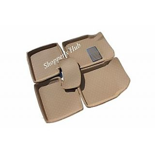 3D Car Foot Mats For Swift Dzire  Beige   Set Of 5Pcs