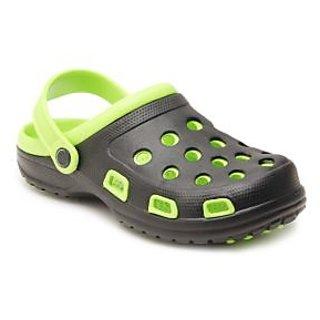 Froggy Black & Green Clog Shoes (fs182)