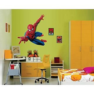 Amazing Walltola Pvc Spider Man Superhero Wall Sticker (20X28 Inch)