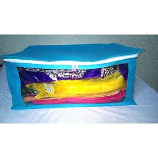 ( 12 PC )Oneside Clear Plastic Clothes Sari Saree Garment Storagecover Box Bags  sc 1 st  Shopclues & 12 PC )Oneside Clear Plastic Clothes Sari Saree Garment Storage ...